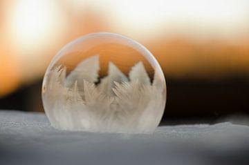 Winter - Bevroren zeepbel I van Gerben van den Hazel
