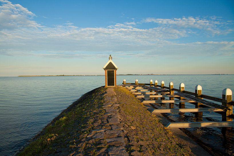 De haven van Volendam. van John Wieling
