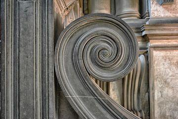 Detail einer italienischen Treppe von Dennis Morshuis