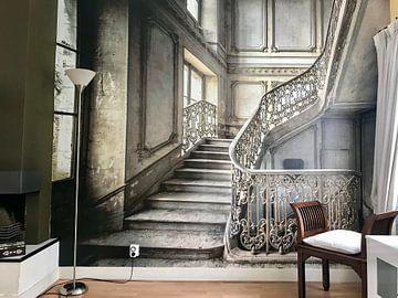 Kundenfoto: Treppe in einem Schloss von Olivier Photography