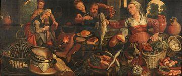 Küchenarbeit, Pieter Aertsen, 1560 - 1565