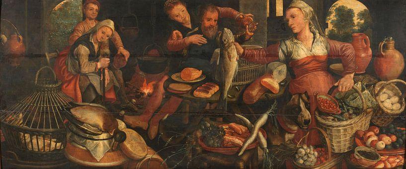 Küchenarbeit, Pieter Aertsen, 1560 - 1565 von Marieke de Koning