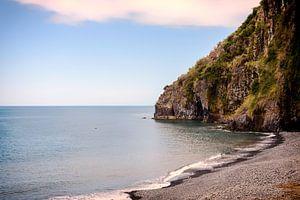 madeira coastline with ocean and rocks