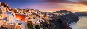 Santorini in Griekenland in de ochtend bij zonsopgang van Fine Art Fotografie