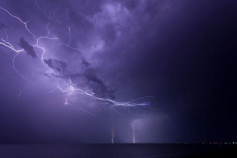 Onweer boven t wad (2) van schylge foto