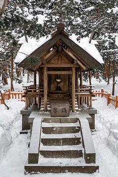 Altaar in de sneeuw van Sapporo van Mickéle Godderis