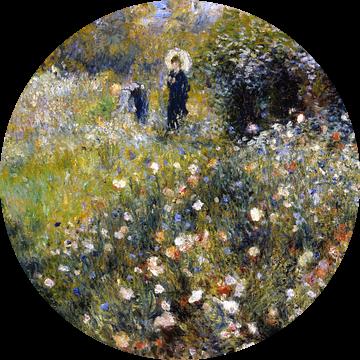 August Renoir. Vrouw met parasol in tuin