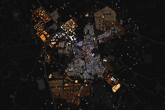 Kaart van Almelo abstract