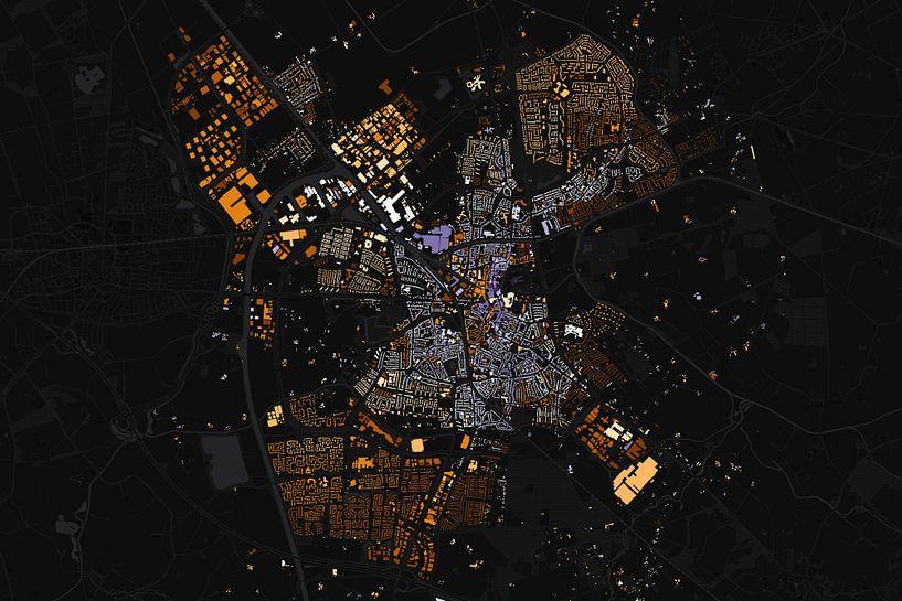 Kaart van Almelo abstract van Stef Verdonk