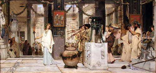 Lawrence Alma Tadema. Oogstfeest