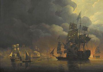 The Anglo-Dutch Fleet under Lord Exmouth, Nicolaas Baur sur