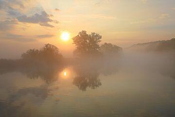 Sonnenaufgang an der Ruhr von Bernhard Kaiser