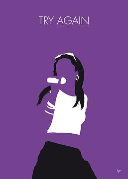 No071 MY Aaliyah Minimal Music poster van Chungkong Art