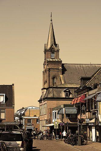 Tekening Egmond aan Zee Nederland  Pentekening Oud Lijntekening