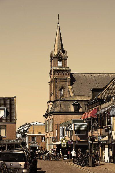 Tekening Egmond aan Zee Nederland  Pentekening Oud Lijntekening van Hendrik-Jan Kornelis