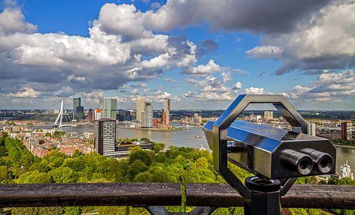 Het uitzicht vanaf de Euromast over Rotterdam van MS Fotografie