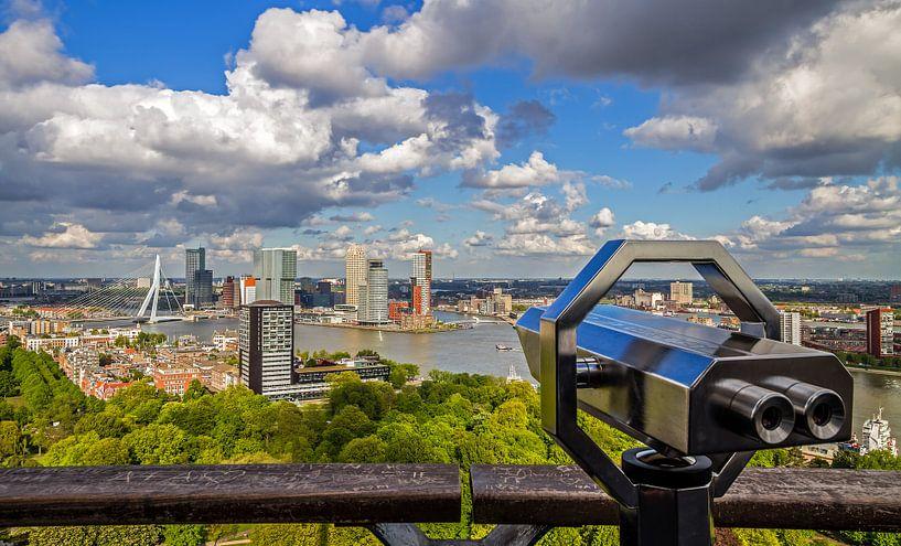 Het uitzicht vanaf de Euromast over Rotterdam van MS Fotografie   Marc van der Stelt