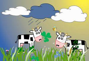 Kinderzimmerbild  -  Cows