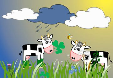 Kinderzimmerbild  -  Cows van Rosi Lorz