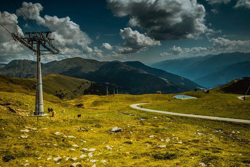 Wandelen in Tirol van Koop je Canvas