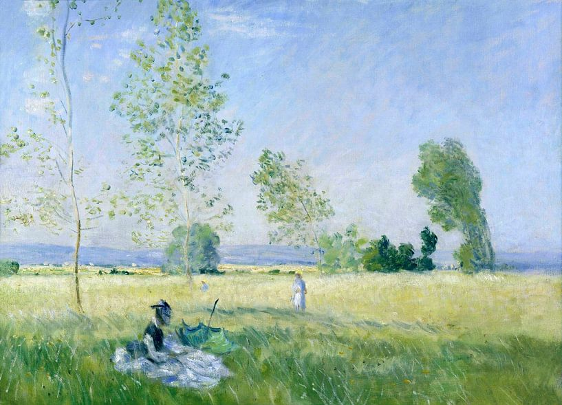 Sommer (Wiese in Bezons), Claude Monet von Meesterlijcke Meesters