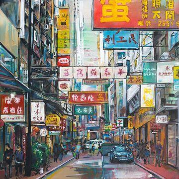 Hong Kong schilderij van Jos Hoppenbrouwers
