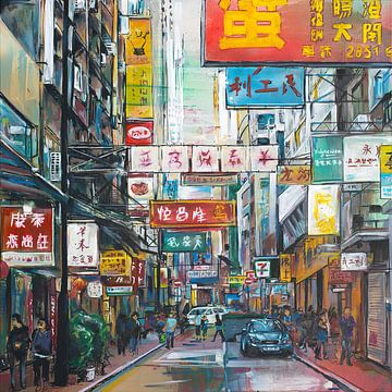 Hong Kong peinture sur Jos Hoppenbrouwers