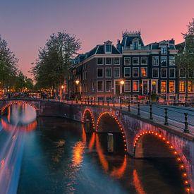 Een avond in Amsterdam van Henk Meijer Photography