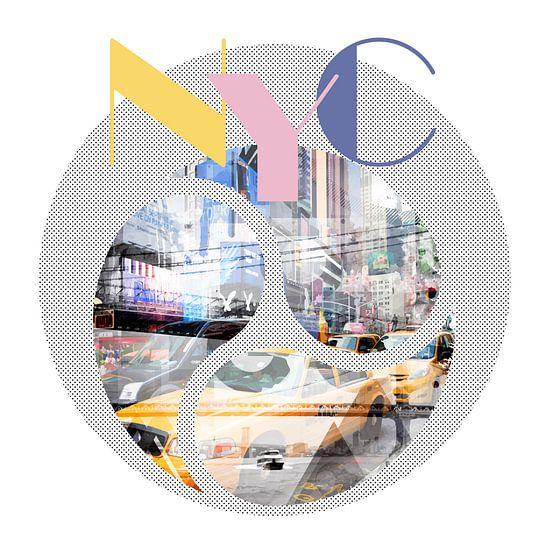 TRENDY DESIGN New York City | Geometric Mix No 1 von Melanie Viola