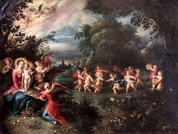 Madonna mit Kind in einer Landschaft, Frans Francken der Jüngere und Abraham Govaerts