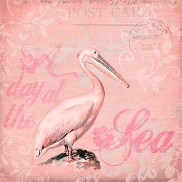 Retro Pelikan Pink von Andrea Haase