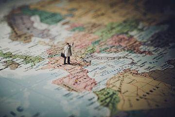Avonturier op de Kaart van World Maps
