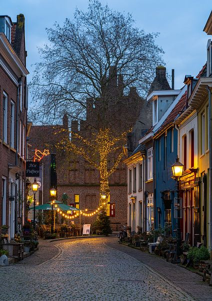 Avondfoto historische stad Doesburg van Jeroen Kleiberg