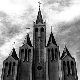 Kerk in Hevic, Hongarije van Jaap van Lenthe