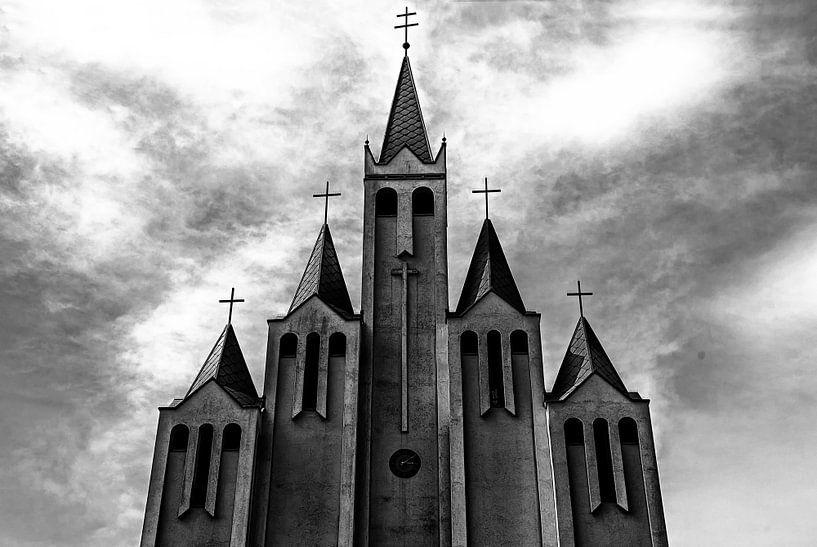Kerk in Hevic, Hongarije van Giovanni della Primavera