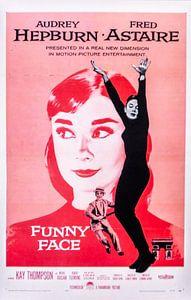 Filmposter Funny Face  met Audrey Hepburn