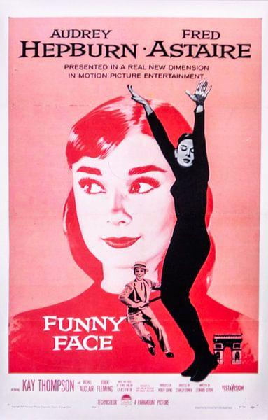 Filmposter Funny Face  met Audrey Hepburn van Brian Morgan