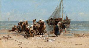 Vissersvrouwen op het strand, Bernardus Johannes Blommers