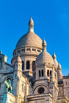 Sacre-Coeur in het Montmartre in Parijs van Werner Dieterich