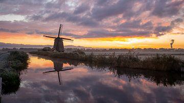 Mühle am Ringkanal von Robert van der Eng