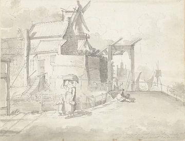Blick auf den Ketelpoort in Delft, Johannes Huibert Prins