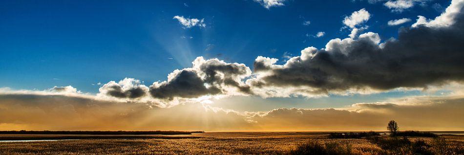 Zonsondergang nabij Gaast