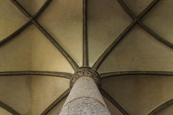 Symmetrisch plafond Mont Saint-Michel van Thijs van den Broek
