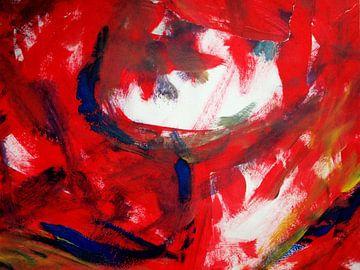 Dame in rood van Anita Snik-Broeken