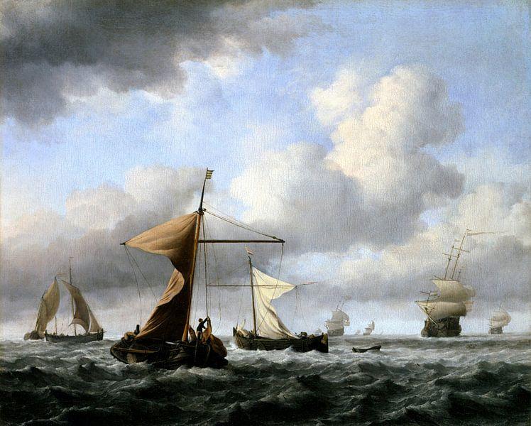 A Brisk Breeze, Willem van de Velde le Jeune sur Meesterlijcke Meesters