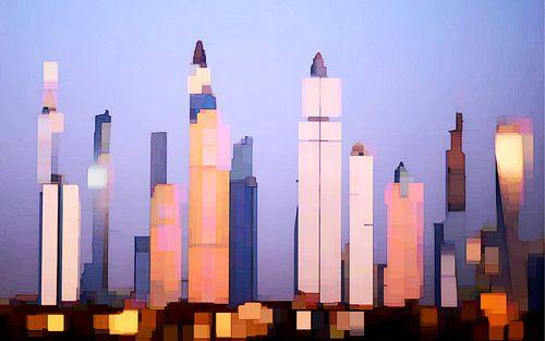 31. City-art, Abstract, stad L. van Alies werk