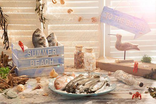 Sonnig Szene des Strandes von Henny Brouwers
