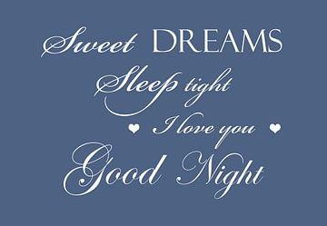 Sweet dreams - Blauw van Sandra H6 Fotografie