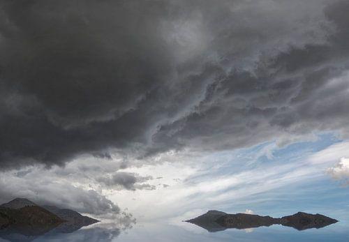 Wolkenlucht in landschap