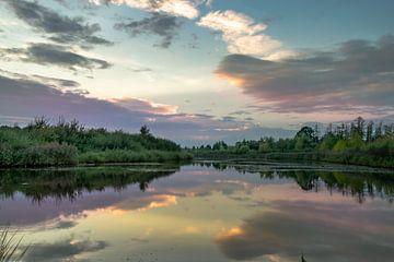 pastelkleur zonsondergang van Kim Lijnders